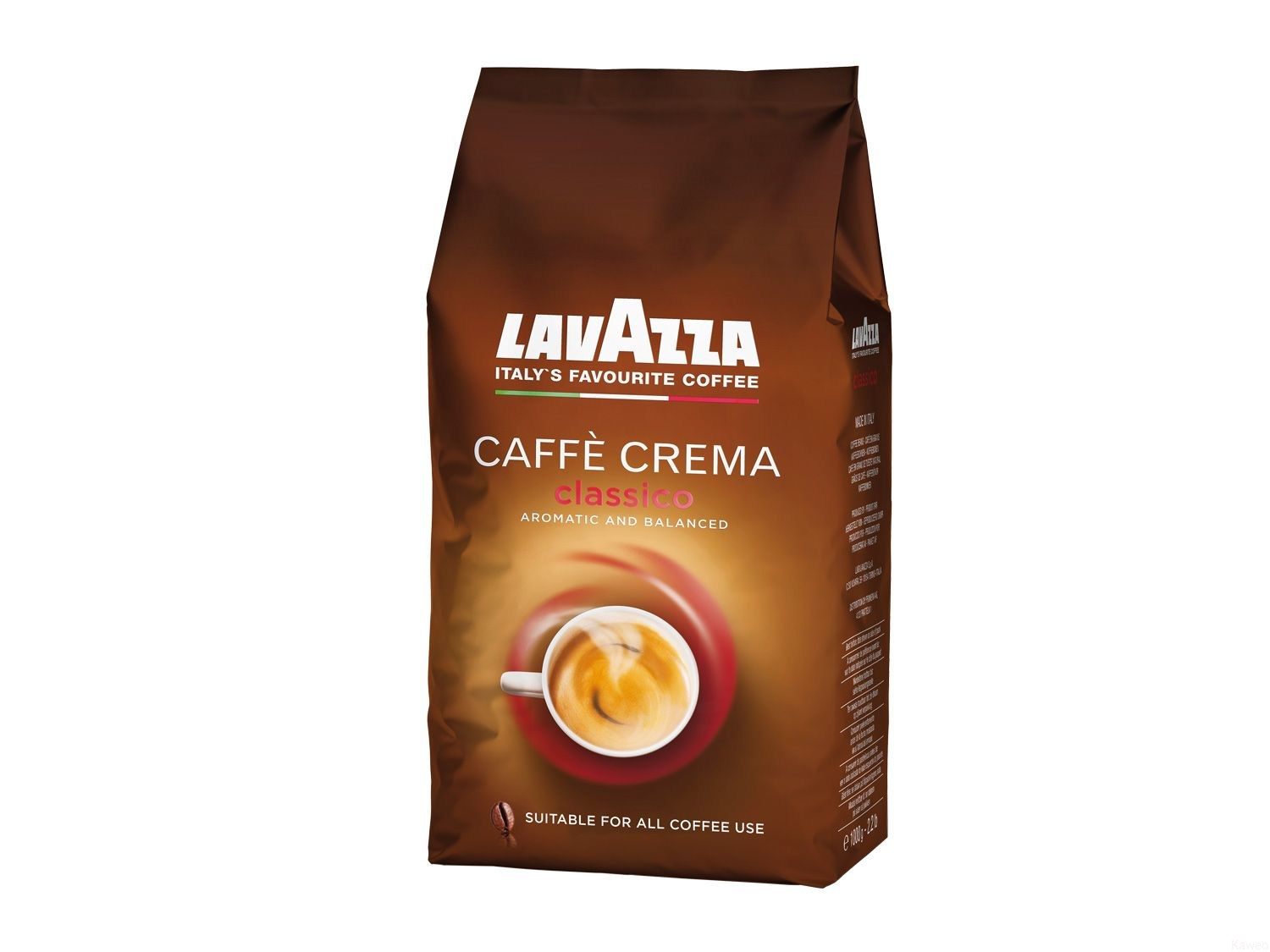 lavazza caffecrema classico kawa ziarnista 1kg. Black Bedroom Furniture Sets. Home Design Ideas