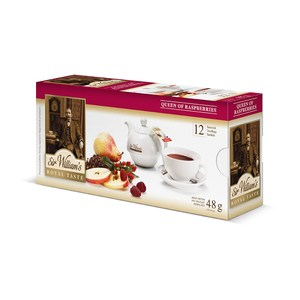 Sir William's Royal Taste  herbata Queen of Raspberries Jesienne smaki  48g saszetka 12 sztuk